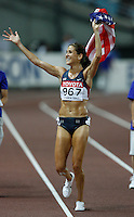 Kara Goucher finished 3rd. in the 10,000m run with a time of 32:02.05 at the 11th. IAAF World Championship being held in Osaka, Japan on Saturday, August 25, 2007. Photo by Errol Anderson, The Sporting Image.