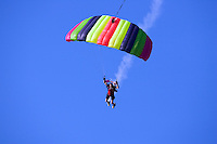 Sky Diver with smoke trail