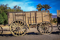 Twenty Mule Team Wagon used by Harmony Borax Works in Death Valley California.  The teams were actually 18 mules and two horses and hauled two borax wagons with 10,000 pounds each, and a 500 gallon water wagon.