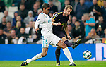 Real Madrid's Raphael Varane (l) and Tottenham Hotspur FC's Harry Kane during Champions League Group H match 3. October 17,2017. (ALTERPHOTOS/Acero)