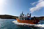 Dun an Oir II -  ferry arriving at Cape Clear Island, Ireland's most southerly inhabited island, off the coast of Co. Cork