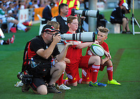 Photographer Richard Spranger shoots the Super Rugby match between the Chiefs and Lions at FMG Stadium, Hamilton, New Zealand on Saturday, 5 March 2016. Photo: Dave Lintott / lintottphoto.co.nz