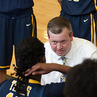 Stony Point coach Keith Allen instructs his players Saturday at Cedar Ridge.  (LOURDES M SHOAF for Round Rock Leader.)