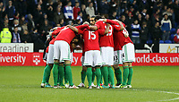 Wednesday 26 December 2012<br /> Pictured: Swansea players huddle before kick off.<br /> Re: Barclays Premier League, Reading v Swansea City FC at the Madejski Stadium, Reading, Berkshire.