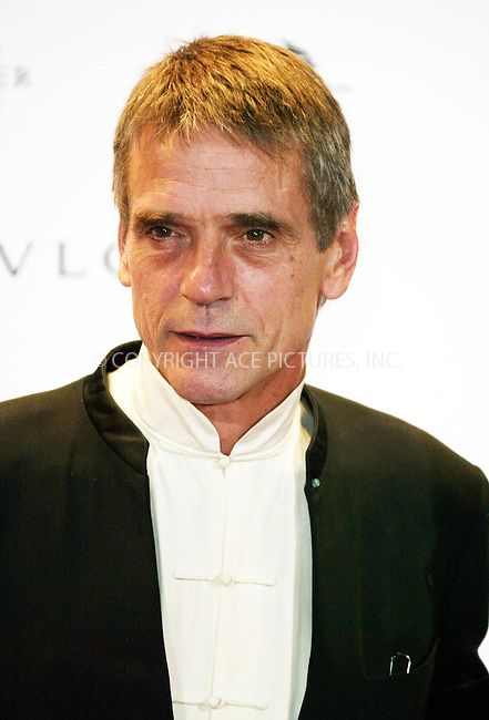 Jeremy Irons at the AMFAR Aids Benefit Gala during the Venice Film Festival. Italy, 3 September 2004...FAMOUS PICTURES AND FEATURES AGENCY.tel  +44 (0) 20 7731 9333.fax +44 (0) 20 7731 9330.e-mail info@famous.uk.com.www.famous.uk.com.FAM13459