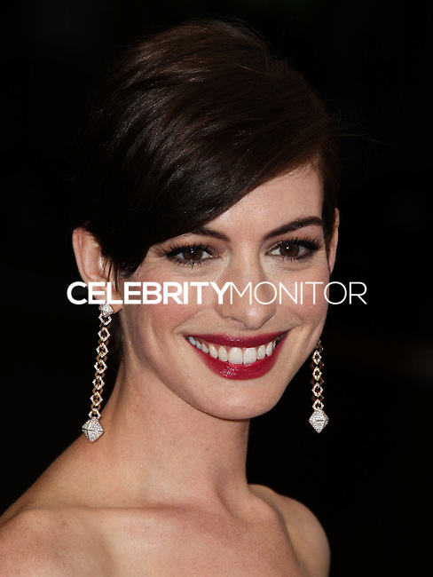 """NEW YORK CITY, NY, USA - MAY 05: Anne Hathaway at the """"Charles James: Beyond Fashion"""" Costume Institute Gala held at the Metropolitan Museum of Art on May 5, 2014 in New York City, New York, United States. (Photo by Xavier Collin/Celebrity Monitor)"""