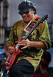 Carlos Santana rocks during his set at Wango Tango, Saturday at the Rose Bowl in Pasadena