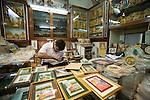 Fifth generation art seller with frames.