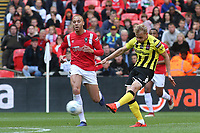 Ryan Croasdale of AFC Fylde takes a shot at the Salford goal during AFC Fylde vs Salford City, Vanarama National League Football Promotion Final at Wembley Stadium on 11th May 2019