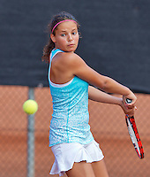 Netherlands, Rotterdam August 05, 2015, Tennis,  National Junior Championships, NJK, TV Victoria,  Emma Goedkoop   Tess Demin<br /> Photo: Tennisimages/Henk Koster