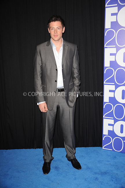 WWW.ACEPIXS.COM . . . . . ....May 17 2010, New York City....Cory Monteith at the 2010 FOX UpFront presentation at the Wollman Rink in Central Park on May 17, 2010 in New York City....Please byline: KRISTIN CALLAHAN - ACEPIXS.COM.. . . . . . ..Ace Pictures, Inc:  ..tel: (212) 243 8787 or (646) 769 0430..e-mail: info@acepixs.com..web: http://www.acepixs.com