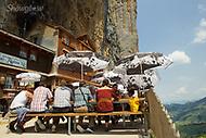 Image Ref: SWISS071<br /> Location: Berggasthaus Aescher, Switzerland<br /> Date of Shot: 21st June 2017