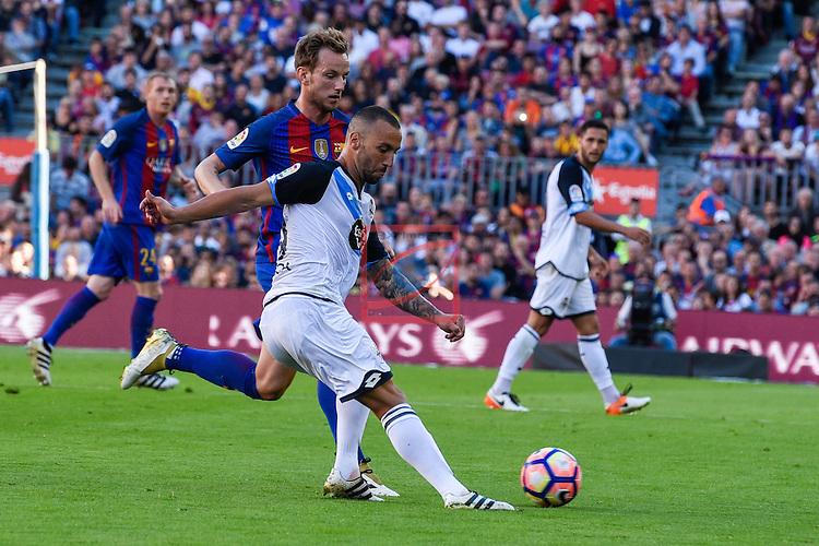 League Santander 2016/2017. Game: 8.<br /> FC Barcelona vs Deportivo: 4-0.<br /> Guilherme vs Ivan Rakitic.