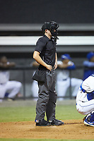 Home plate umpire Lane Culipher works the plate during the Appalachian League game between the Pulaski Yankees and the Burlington Royals at Burlington Athletic Stadium on August 25, 2019 in Burlington, North Carolina. The Yankees defeated the Royals 3-0. (Brian Westerholt/Four Seam Images)