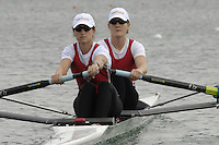 Munich, GERMANY, 2006, FISA, Rowing, World Cup, CAN W2- Bow, Darcey Marquardt and Jane Rumball.,  held on the Olympic Regatta Course, Munich, Thurs. 25.05.2006. © Peter Spurrier/Intersport-images.com,  / Mobile +44 [0] 7973 819 551 / email images@intersport-images.com..[Mandatory Credit, Peter Spurier/ Intersport Images] Rowing Course, Olympic Regatta Rowing Course, Munich, GERMANY