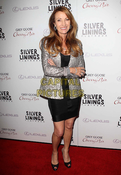 "Jane Seymour.The Weinstein Company Presents A Special Screening Of ""Silver Linings Playbook"" Held At The AMPAS Samuel Goldwyn Theater, Beverly Hills, California, USA..November 19th, 2012.full length black dress silver blazer hands arms crossed sequins sequined .CAP/ADM/KB.©Kevan Brooks/AdMedia/Capital Pictures."