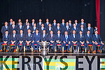 The Kerry senior team who received their All Ireland Medal medals  banquet in the INEC on Friday night front row: Paul Murphy, Aidan O'Mahony, Marc O Sé, Kieran Donaghy, Eamon Fitzmaurice, Fionn Fitzgerald, Liam O'Neill GAA President, Kieran O'Leary, Patrick O'Sullivan County Board Chairman, Peter Crowley, Killian Young, Anthony Maher, David Moran. Middle row: Alan Kelly, Johnny Buckley, Donnchadh Walsh, Paul Geaney, James O'Donoghue, Michael Geaney, Barry John Keane, Shane Enright, Bryan Sheehan, Mark Griffin, Pa Kilkenny, Stephen O'Brien. Back row: Declan O'Sullivan, Jonathan Lyne, Brendan Kealy, Colm Cooper, Shane Enright, ---------, Daithi Casey, Shane O'Callaghan, Marcus Mangan, and Jack Sherwood
