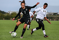 Emma Main. OFC U-19 Women's Championship 2017, New Zealand v Fiji, Ngahue Reserve Auckland, Tuesday 11th July 2017. Photo: Simon Watts / www.bwmedia.co.nz