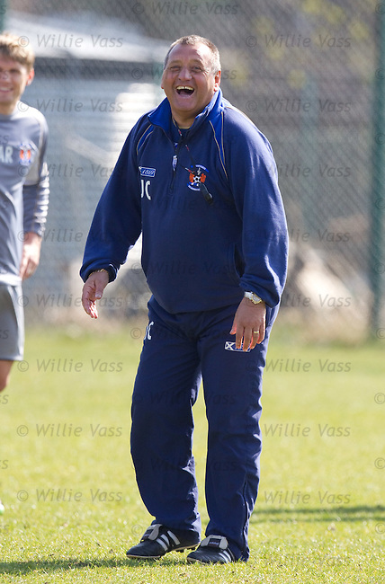 Jimmy Calderwood in top form at training