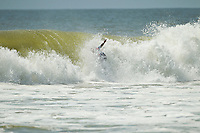 """LONG BEACH, LONG ISLAND / New York (Thursday, September 8, 2011) - Kelly Slater (USA) . The world's best surfers tore through a marathon day of competition with some incredible performances at the Quiksilver Pro New York to decide the event's Quarterfinalists in pumping three-to-five foot (1.5 metre) surf compliments of Hurricane Katia...Stop No. 6 of 11 on the ASP World Title Series, today's Quiksilver Pro New York competition saw non-stop action, as the ASP Top 34 put it all on the line in Long Beach while chasing the ASP World Title, the historic US$1,000,000 prize purse and crucial points to secure their position amongst the elite prior to the midyear rotation following the event.. .Josh Kerr (AUS), 27, clawed his way back in to his Round 4 heat after Kelly Slater (USA), 39, took a commanding lead with a 9.37 for a big frontside alley-oop. The progressive Australian answered with two airs of his own, first launching a massive backside varial to the tune of 9.57 and immediately caught another wave, this time lofting a gigantic alley-oop for a 9.70 to overtake the reigning 10-time ASP World Champion and advance directly through to the Quarterfinals...""""I can't believe it just happened like that,"""" Kerr said. """"I didn't expect to make that varial and when I did I thought, 'it's time to go now.' Then I got one straight after it. I couldn't have planned it any better. The fans are really cool and it's great to be in New York with everyone screaming, it's great. I definitely gained confidence from that heat. I've never beaten Kelly (Slater) and I'm just so stoked right now.""""..Owen Wright (AUS), 21, went on a rampage against former ASP World Champion C.J. Hobgood (USA), 32, in his Round 3 heat, tearing through the high-performance lefts and rights at Long Beach. The lanky goofy-footer posted the highest single-wave score of the event, 9.80 out of 10, when he unveiled a ferocious, inverted backside air-reverse to solidify the victory and went on to take out his Round 4 hea"""
