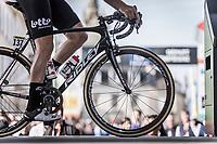 Jelle Wallays (BEL/Lotto Soudal) at sign-on. <br /> <br /> 116th Paris-Roubaix (1.UWT)<br /> 1 Day Race. Compiègne - Roubaix (257km)