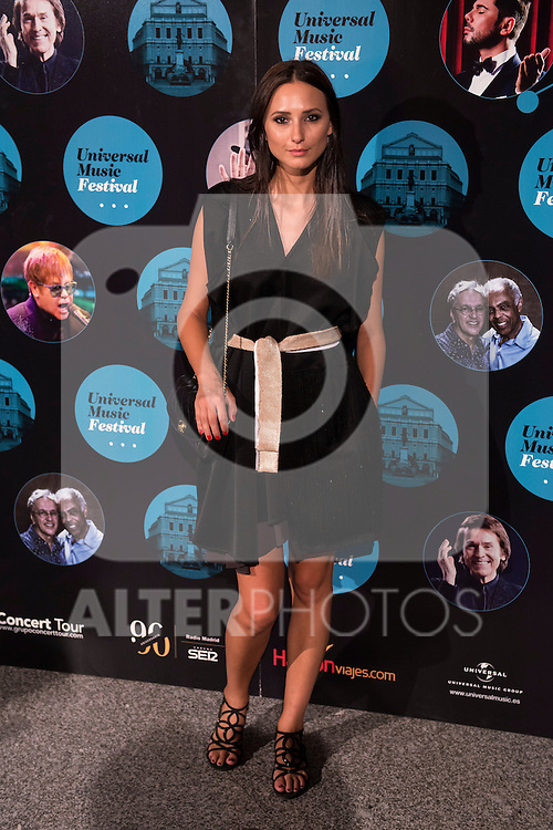 Mayte de la Iglesia attends the photocall before the concert of spanish singer El Barrio in Royal Theater in Madrid, Spain. July 27, 2015.<br />  (ALTERPHOTOS/BorjaB.Hojas)