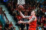 ****BETALBILD**** <br /> Uppsala 2015-04-24 Basket SM-Final 3 Uppsala Basket - S&ouml;dert&auml;lje Kings :  <br /> Uppsalas Axel Nordstr&ouml;m g&ouml;r po&auml;ng under matchen mellan Uppsala Basket och S&ouml;dert&auml;lje Kings <br /> (Foto: Kenta J&ouml;nsson) Nyckelord:  Basket Basketligan SM SM-final Final Fyrishov Uppsala S&ouml;dert&auml;lje Kings SBBK portr&auml;tt portrait