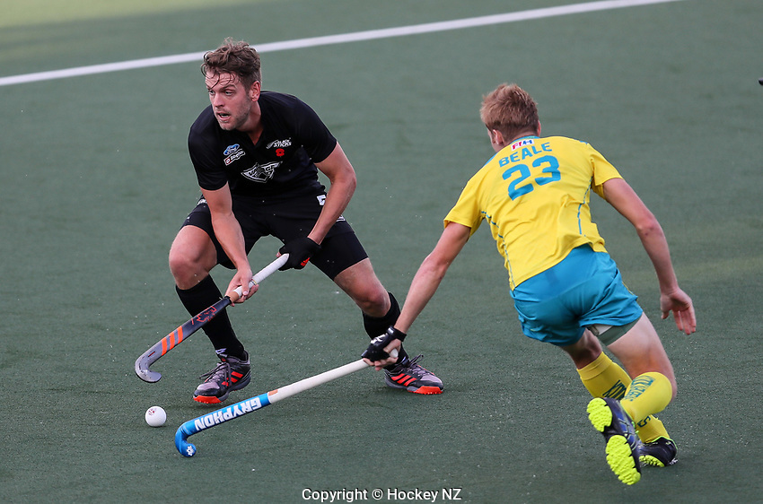 Harry Miskimmin. Pro League Hockey, Vantage Blacksticks Men v Australia, ANZAC test. North Harbour Hockey Stadium, Auckland, New Zealand. Thursday 25 April 2019. Photo: Simon Watts/Hockey NZ