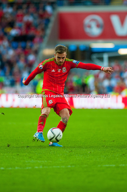during their UEFA EURO 2016 Group B qualifying round match held at Cardiff City Stadium, Cardiff, Wales, 06 September 2015. EPA/DIMITRIS LEGAKIS