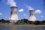 Hyperbolic Cooling Tower, Jacksonville Electric Authority, Florida Power and Light, Jacksonville FL.  Taken May, 2008