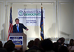 New Hyde Park, New York, USA. October 23, 2017. Governor Andrew Cuomo speaking at NCDC Annual Dinner - screenshots of my video