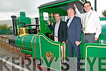 Lartigue Railway Family Gathering: Pictured at the Lartigue Railway family gathering held in Listowel on Friday evening last were Martin Griffin, Station Master Lartigue Railway, Mimister for the Arts, Heritage & An Gaeltach, Jimmy Deenihan, TD & Cllr. Jimmy Moloney, Mayor of Listowel.