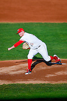 Orem Owlz starting pitcher Jonah Wesely (26) delivers a pitch to the plate against the Billings Mustangs in Pioneer League action at Home of the Owlz on July 25, 2016 in Orem, Utah. Orem defeated Billings 6-5. (Stephen Smith/Four Seam Images)