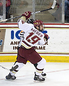 Chris Kreider (BC - 19) - The Boston College Eagles defeated the University of Massachusetts-Amherst Minutemen 6-5 on Friday, March 12, 2010, in the opening game of their Hockey East Quarterfinal matchup at Conte Forum in Chestnut Hill, Massachusetts.