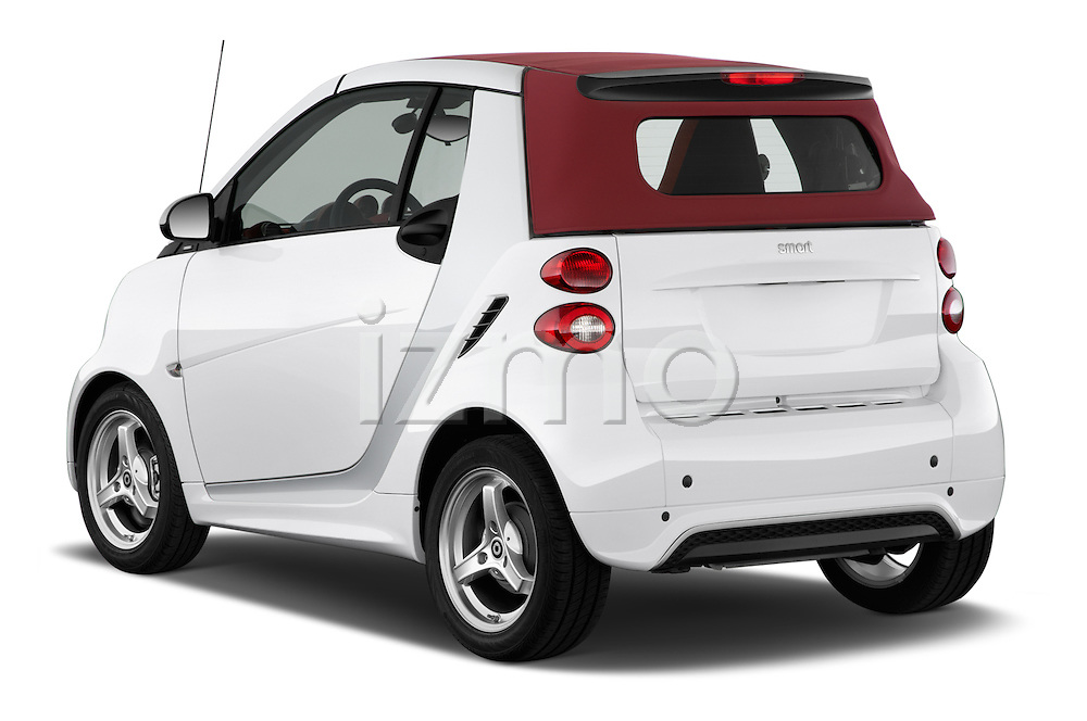 Rear three quarter view of a 2013 Smart For Two Cabriolet
