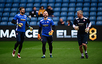 Bolton Wanderers' Mark Howard, left, with team-mate Bolton Wanderers' Ben Alnwick, centre, and Bolton Wanderers' goalkeeping coach Lee Butler during the pre-match warm-up<br /> <br /> Photographer Chris Vaughan/CameraSport<br /> <br /> The EFL Sky Bet Championship - Sheffield Wednesday v Bolton Wanderers - Saturday 10th March 2018 - Hillsborough - Sheffield<br /> <br /> World Copyright &copy; 2018 CameraSport. All rights reserved. 43 Linden Ave. Countesthorpe. Leicester. England. LE8 5PG - Tel: +44 (0) 116 277 4147 - admin@camerasport.com - www.camerasport.com