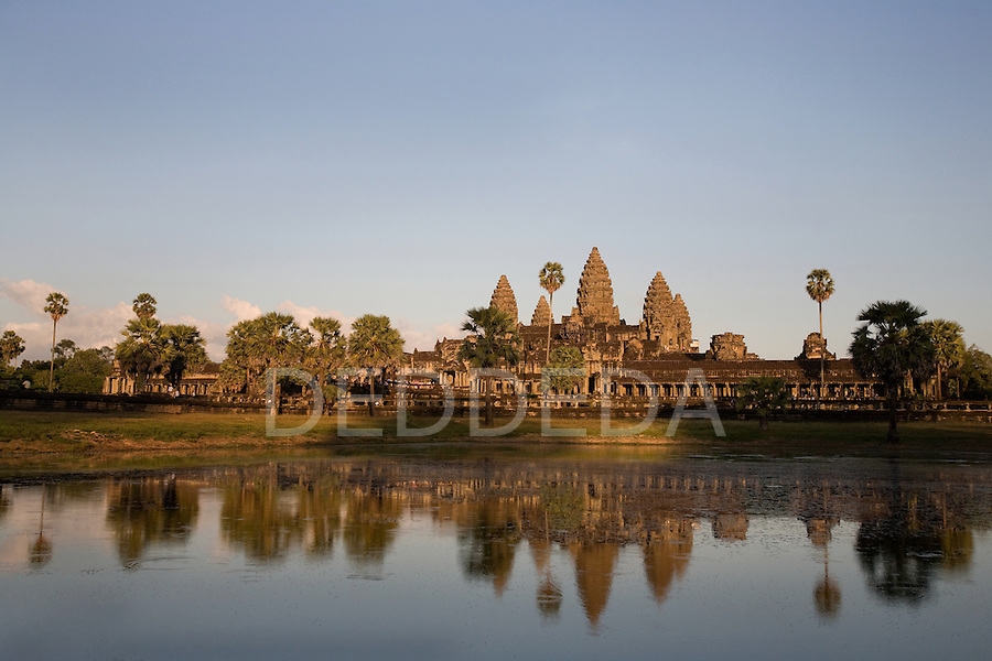 The ancient temple of Angkor Wat in Cambodia.