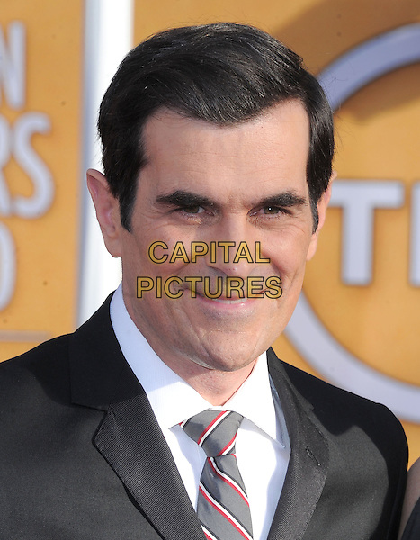 Ty Burrell.Arrivals at the 19th Annual Screen Actors Guild Awards at the Shrine Auditorium in Los Angeles, California, USA..27th January 2013.SAG SAGs headshot portrait black white grey gray suit tie shirt    .CAP/DVS.©DVS/Capital Pictures.