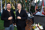 Record Company executive Markus Unterberger, Composer Gerrit Wunder.Austrian National Holiday Celebration with General Consul Dr Karin Proidl.Residenz of the Consul.Los Angeles, California.26 October 2009.Photo by Nina Prommer/Milestone Photo