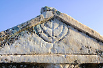 Sarcophagus With Carved Menorah, Hierapolis