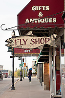The sign for the Driftless Angler fly shop in downtown VIroqua Wisconsin heart of the Driftless Area.