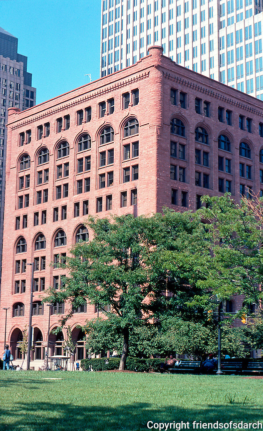 "Burnham & Root: The Society for Savings Bank. 127 Public Square, Cleveland. 1889-1890.  ""A fanciful overlay of past styles.""  Photo 2001."