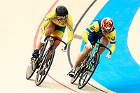 Picture by Alex Whitehead/SWpix.com - 09/12/2017 - Cycling - UCI Track Cycling World Cup Santiago - Velódromo de Peñalolén, Santiago, Chile - Ukraine's Liubov Basova defeats Lithuania's Simona Krupeckaite in the Women's Sprint quarter-finals.