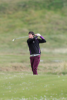 Steffan O'Hara (Co. Sligo) on the 5th during round 2 of The West of Ireland Amateur Open in Co. Sligo Golf Club on Saturday 19th April 2014.<br /> Picture:  Thos Caffrey / www.golffile.ie