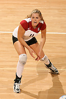 3 December 2005: Jessica Fishburn during Stanford's 3-1 loss to Santa Clara University at Maples Pavilion in Stanford, CA.