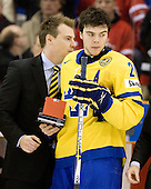 Magnus Paajarvi Svensson (Sweden - 21) - Team Sweden celebrates after defeating Team Switzerland 11-4 to win the bronze medal in the 2010 World Juniors tournament on Tuesday, January 5, 2010, at the Credit Union Centre in Saskatoon, Saskatchewan.