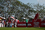 CHON BURI, THAILAND - FEBRUARY 18:  Na Yeon Choi of South Korea tees off on the 18th hole during day two of the LPGA Thailand at Siam Country Club on February 18, 2011 in Chon Buri, Thailand.  Photo by Victor Fraile / The Power of Sport Images