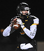 Bo Waters #3, St. Anthony's quarterback, looks for a receiver during the NYCHSFL Class AAA semifinals against Cardinal Hayes (Bronx) at St. Anthony's High School on Friday, Nov. 11, 2016.