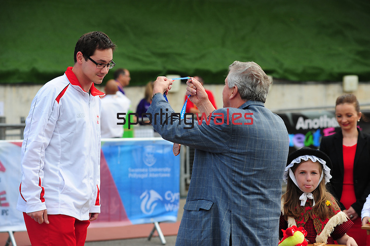 IPC European Athletics Championship 2014<br /> Swansea University<br /> <br /> Medal ceremony: Men's high jump T42<br /> <br /> 21.08.14<br /> Chris Vaughan-SPORTINGWALES