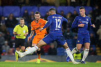 Ruben Loftus-Cheek of Chelsea blocks a pass from Vieirinha of PAOK Salonika during Chelsea vs PAOK Salonika, UEFA Europa League Football at Stamford Bridge on 29th November 2018
